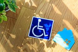 internationales Symbol für barrierefreien Zugang