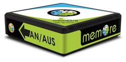 Die MemoreBox: ein kleiner rechteckiger Kasten